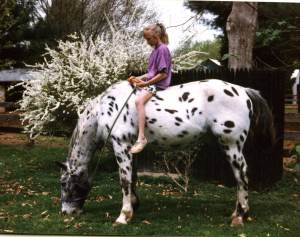 Jenny, age 11 and Pongo. Photo credit Laura Nichols