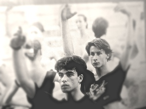Tomi and Yannis in Ballet Class, Hamburg. Photo Credit: Holger Badekow