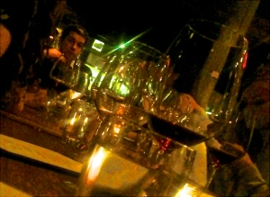 Quentin Paillard and friends at #winelover dinner, NYC 2014. Photo by V. Sprinkel