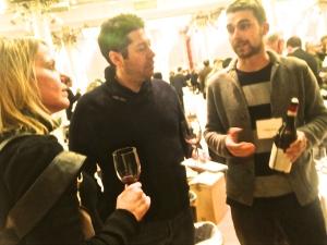 Andrea Greifenberger (R), Paolo Penso (M), and Danilo Nada (R). Vinitaly USA 2014. Photo by V.Sprinkel